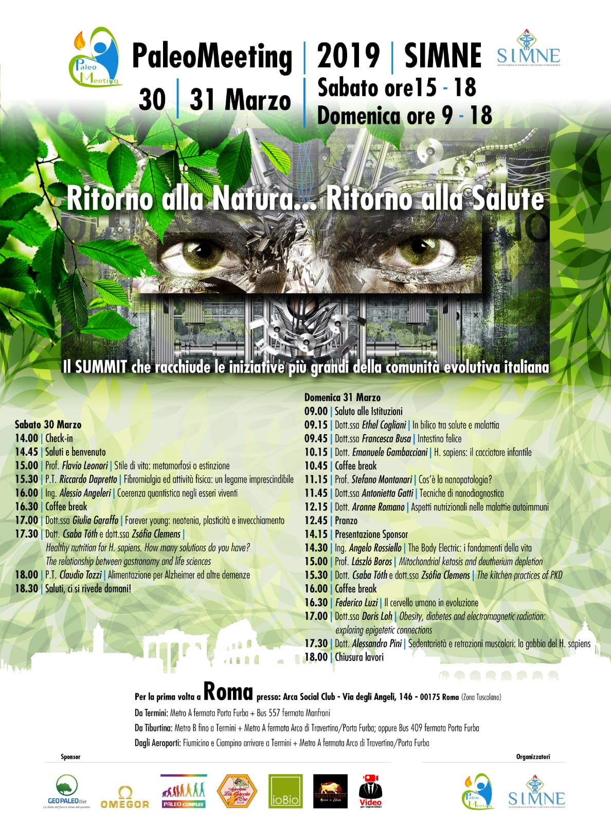 Locandina PaleoMeeting + SIMNE con Programma